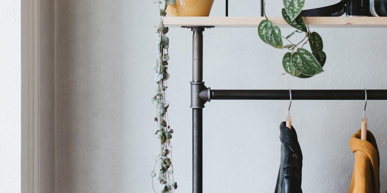 DIY : un portant à vêtements en acier